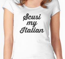 ITALIAN Women's Fitted Scoop T-Shirt