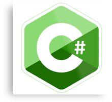 c sharp green lenguage programming c# Metal Print