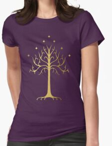 golden tree of Gondor Womens Fitted T-Shirt