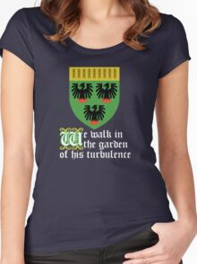 We walk in the garden of his turbulence (white) Women's Fitted Scoop T-Shirt