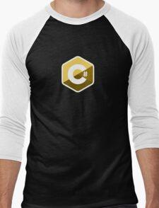 c sharp gold lenguage programming c# Men's Baseball ¾ T-Shirt