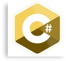 c sharp gold lenguage programming c# Metal Print