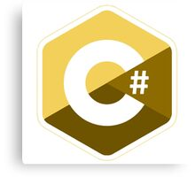 c sharp gold lenguage programming c# Canvas Print