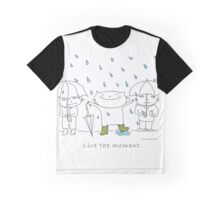 Live the moment / Cat doodle Graphic T-Shirt