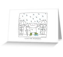 Live the moment / Cat doodle Greeting Card