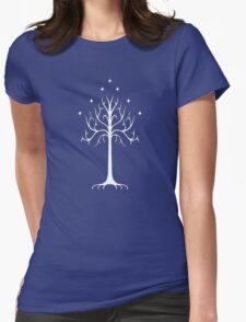 white tree of Gondor Womens Fitted T-Shirt