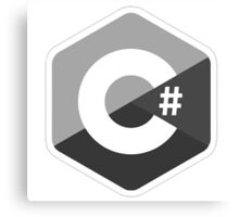 c sharp black lenguage programming c# Canvas Print