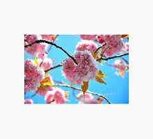 Cherry Blossoms in Bloom Against a Blue Sky Unisex T-Shirt