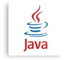 java programming language sticker Metal Print