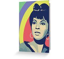 Nichelle Nichols (Uhura) Greeting Card