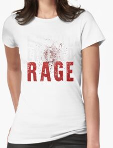 I WOULD LIKE TO RAGE!!! (White)  Womens Fitted T-Shirt