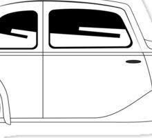 Coupe - vintage model of car Sticker