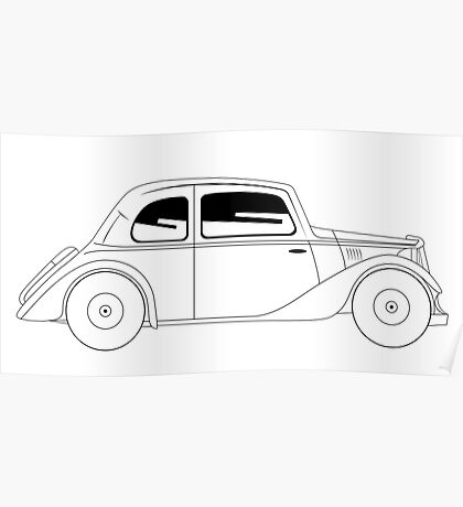 Coupe - vintage model of car Poster