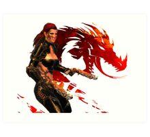 Guild Wars 2 - A human shooter Art Print