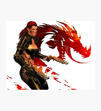 Guild Wars 2 - A human shooter Photographic Print
