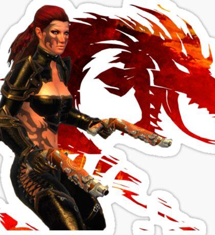 Guild Wars 2 - A human shooter Sticker