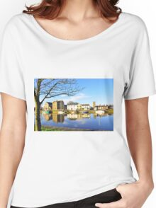 The Claddagh, Galway, Water Reflections Women's Relaxed Fit T-Shirt