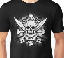 Jolly Roger in grunge style Unisex T-Shirt