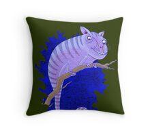 Cheshire Cat Chameleon Throw Pillow