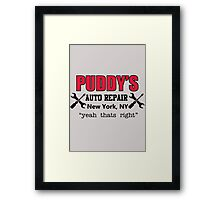 Seinfeld - Puddy's Auto Repair Framed Print