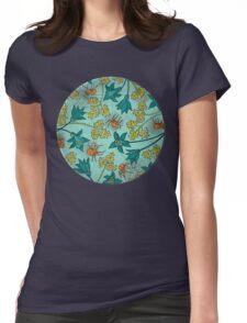 Alpine-Columbine bloom Pattern Womens Fitted T-Shirt