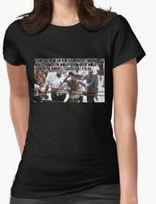 Cassius Clay Sonny Liston Womens Fitted T-Shirt