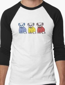 Pug Trek Men's Baseball ¾ T-Shirt