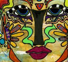 Life Dreams-Ceremonial Mask Sticker