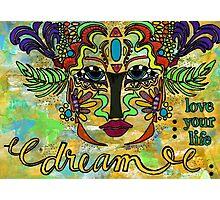 Life Dreams-Ceremonial Mask Photographic Print