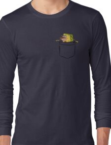 Caveman Spongebob (Primitive Spongegar) Pocket Shirt - Spongebob Long Sleeve T-Shirt