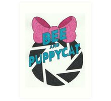 Bee and PortalCat Logo Art Print