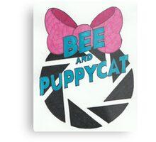 Bee and PortalCat Logo Metal Print