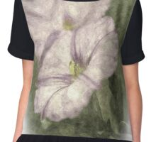 Textured Flowers Chiffon Top