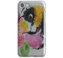 Bumble bee and pink flower iPhone Case/Skin