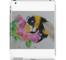 Bumble bee and pink flower iPad Case/Skin