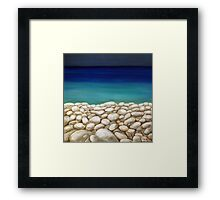 Summer stones Framed Print
