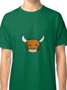 Kawaii Highland Cute Coo (Cow) Glasgow  Classic T-Shirt