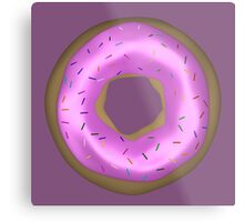 Delicious Pink Doughnut with Sprinkles Metal Print