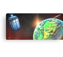 Tardis New Worlds Canvas Print