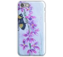 Bumble bee sitting on a flower iPhone Case/Skin