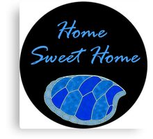 home sweet home tutle house Canvas Print
