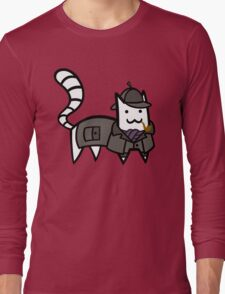 Detective Cat Long Sleeve T-Shirt