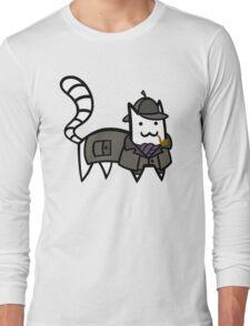 Detective Cat Long Sleeve T-Shirt