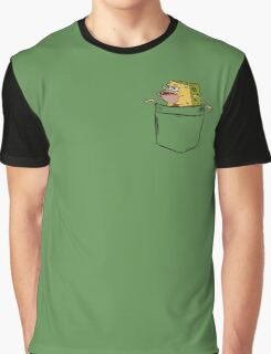 Caveman Spongebob (Primitive Spongegar) Pocket Shirt - Spongebob Graphic T-Shirt