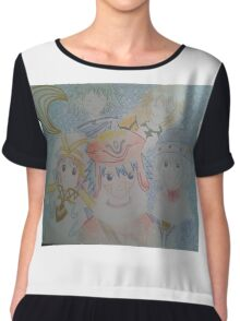 Some of the cast from the dot hack franchise Chiffon Top