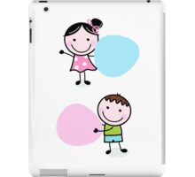 Illustration of happy Kids with Hearts iPad Case/Skin
