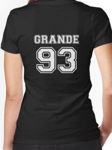 Ariana Grande - 93 Jersey (White) Women's Fitted V-Neck T-Shirt