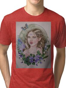 Violet lily of the valley fairy faerie Tri-blend T-Shirt