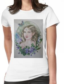 Violet lily of the valley fairy faerie Womens Fitted T-Shirt