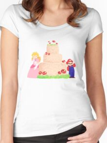 Smash Food - Toadstool Cake Women's Fitted Scoop T-Shirt